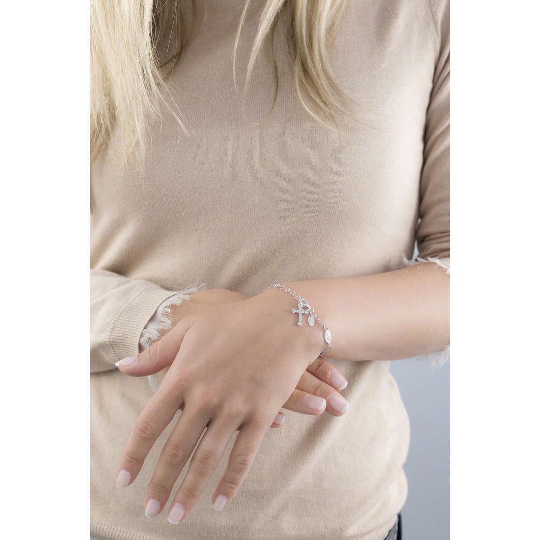 Amen bracelets Rosario woman BROBZ4 indosso