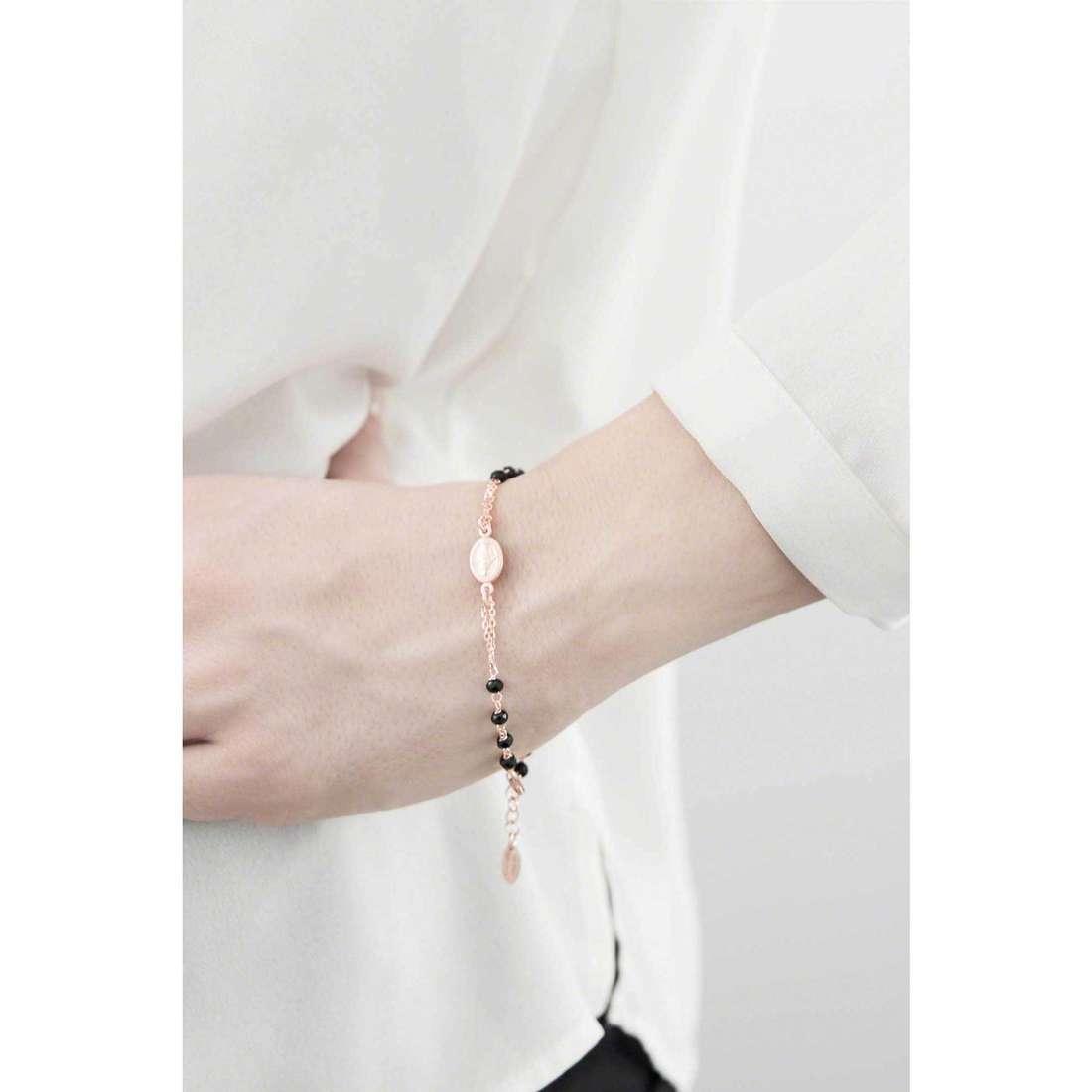 Amen bracelets Rosario woman BRORNZ3 indosso