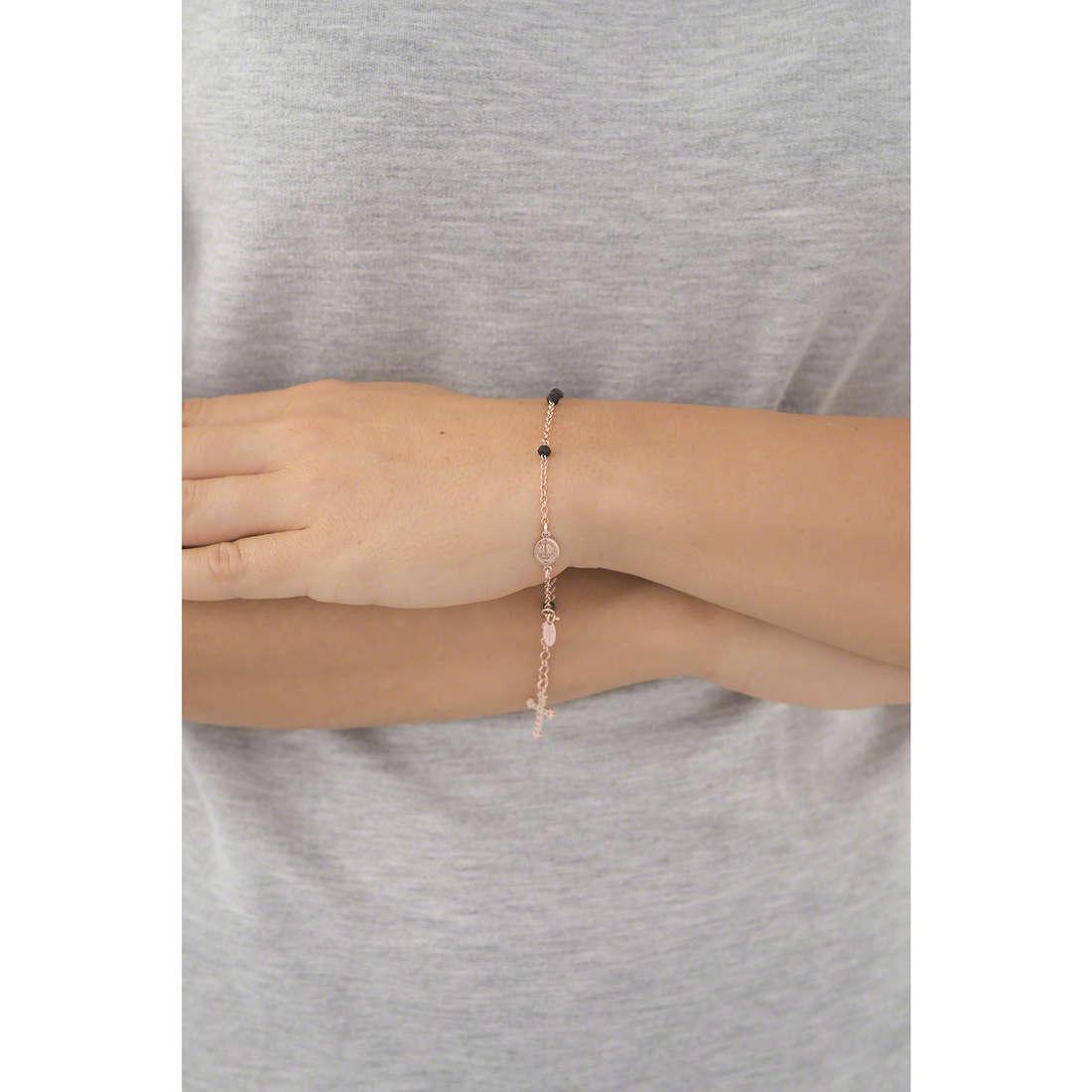 Amen bracelets Rosario woman BRORNZ4 indosso