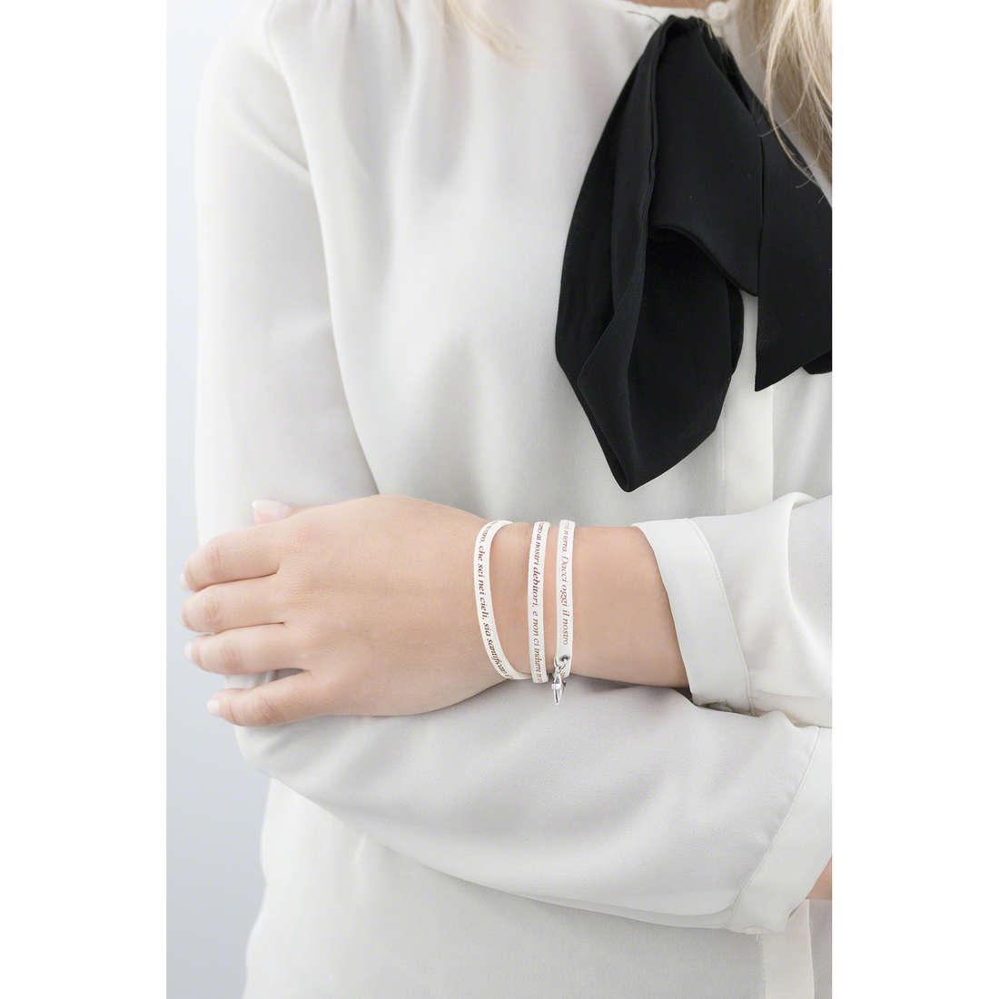 Amen bracelets Padre Nostro Italiano woman AC-PNIT07-C-57 indosso