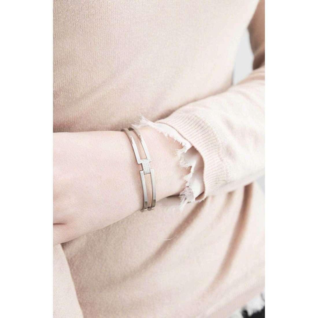 Breil bracelets Breilogy Extension woman TJ1809 indosso