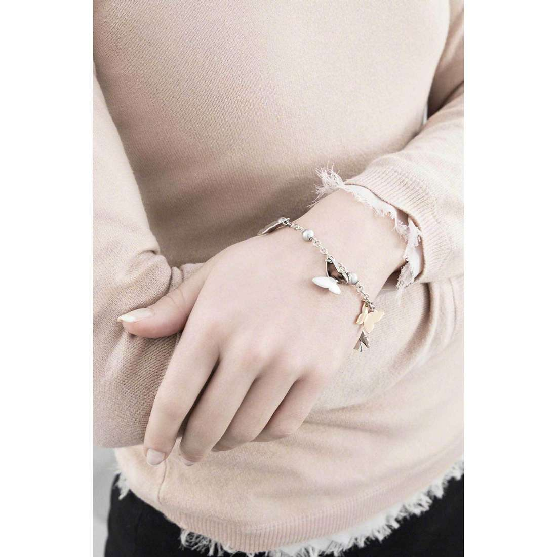 Brosway bracelets Papillon woman BPP11 indosso