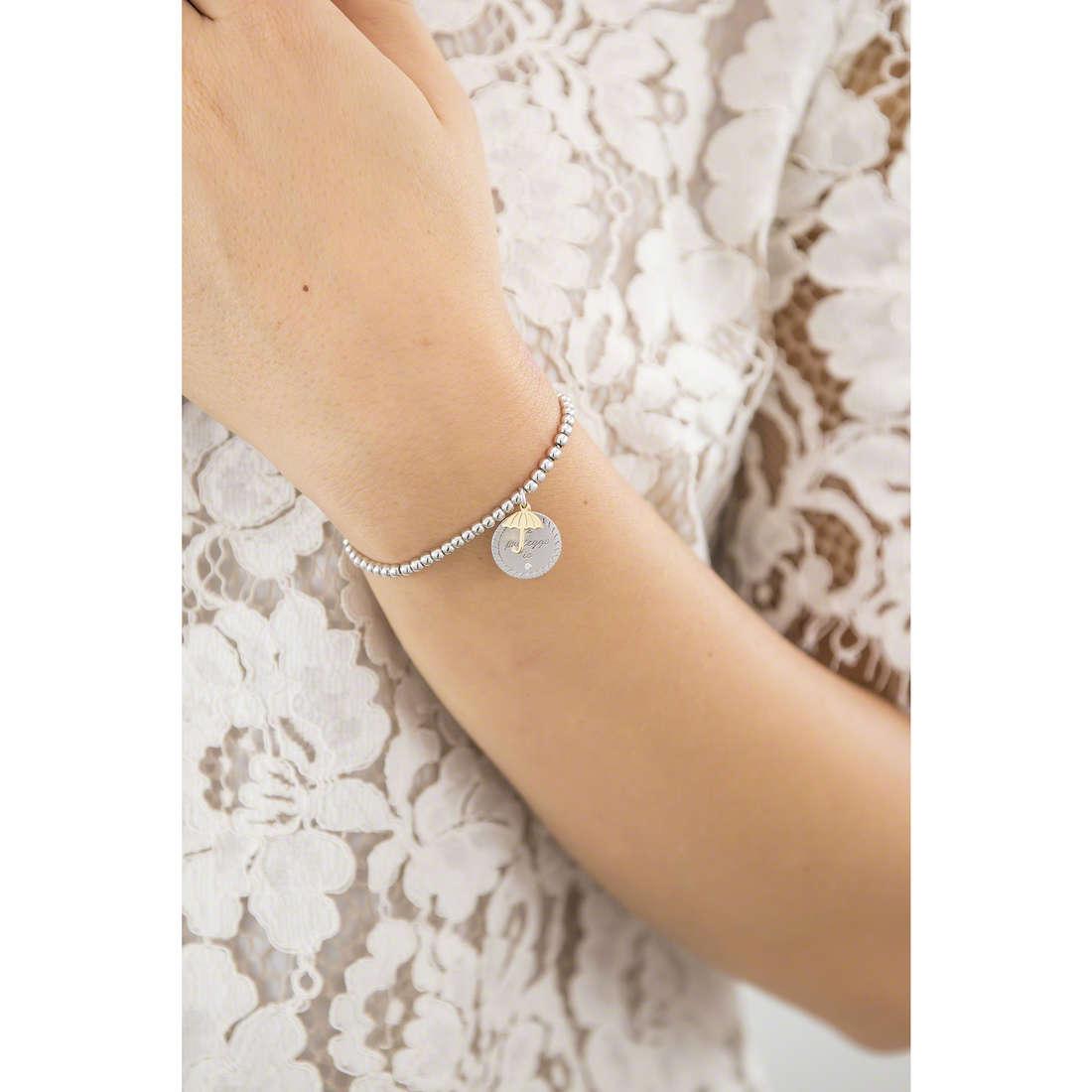 Comete bracelets Love Tag woman BRA 146 indosso