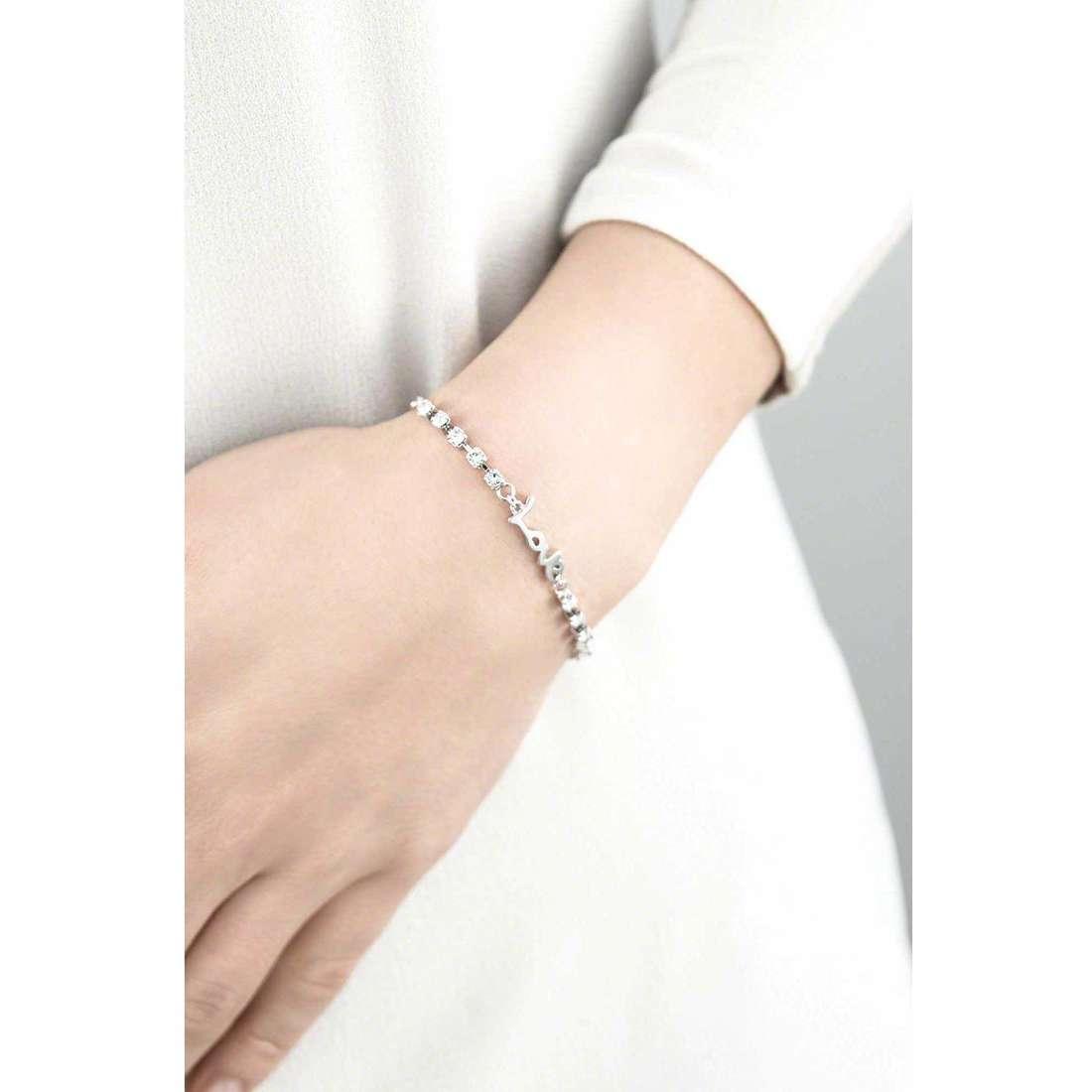Guess bracelets My Feelings 4U woman UBB61077-S indosso