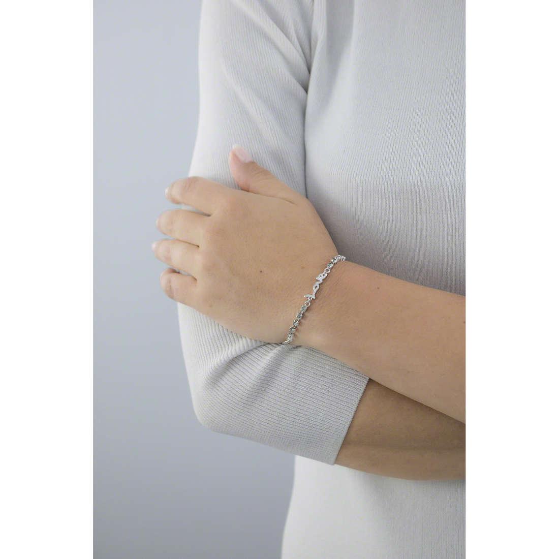 Guess bracelets My Feelings 4U woman UBB61078-S indosso