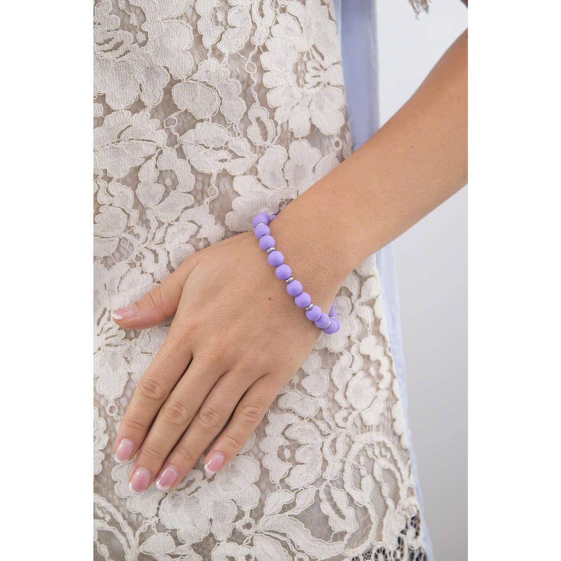 Hip Hop bracelets Bon Bon woman HJ0286 indosso