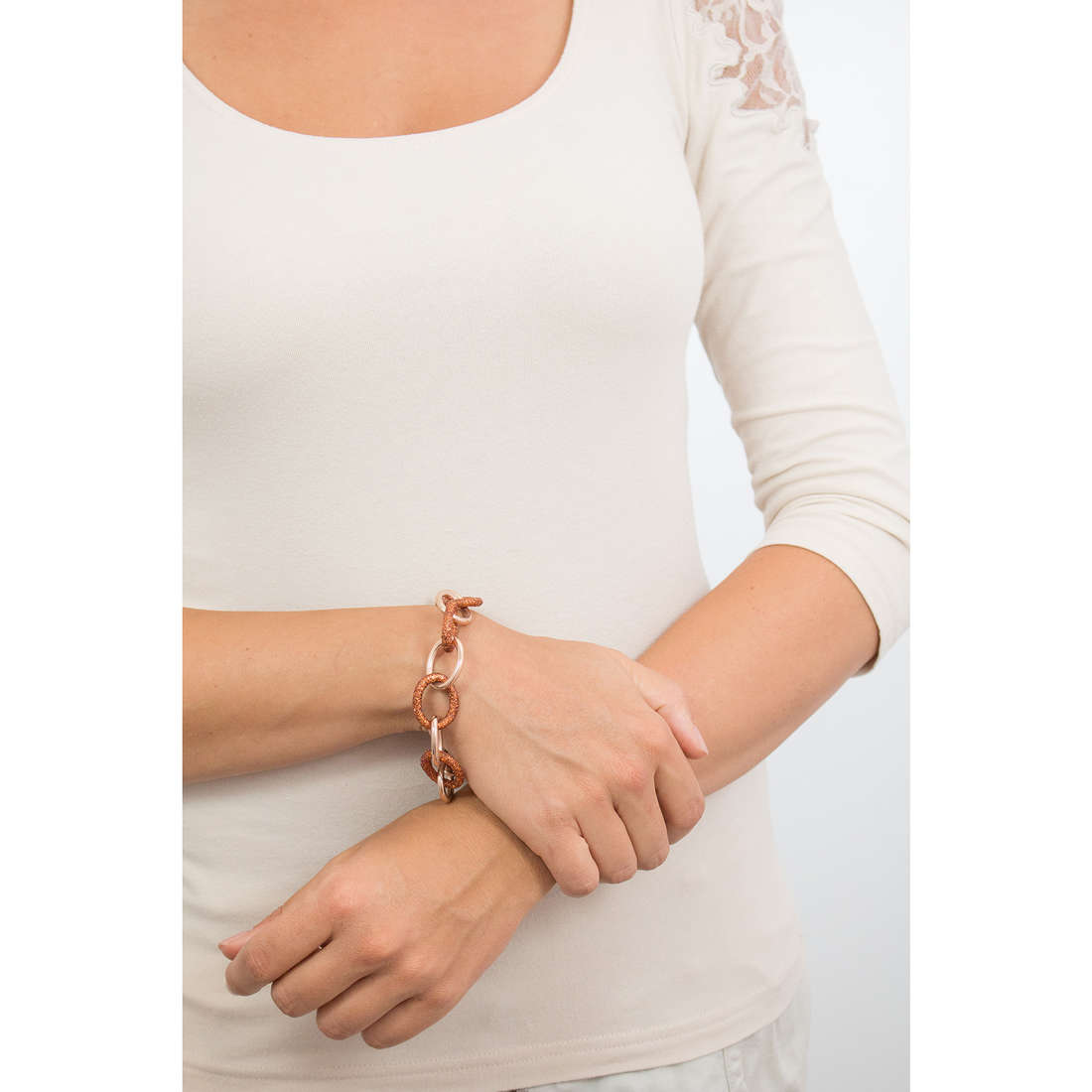 Luca Barra bracelets woman LBBK1070 indosso