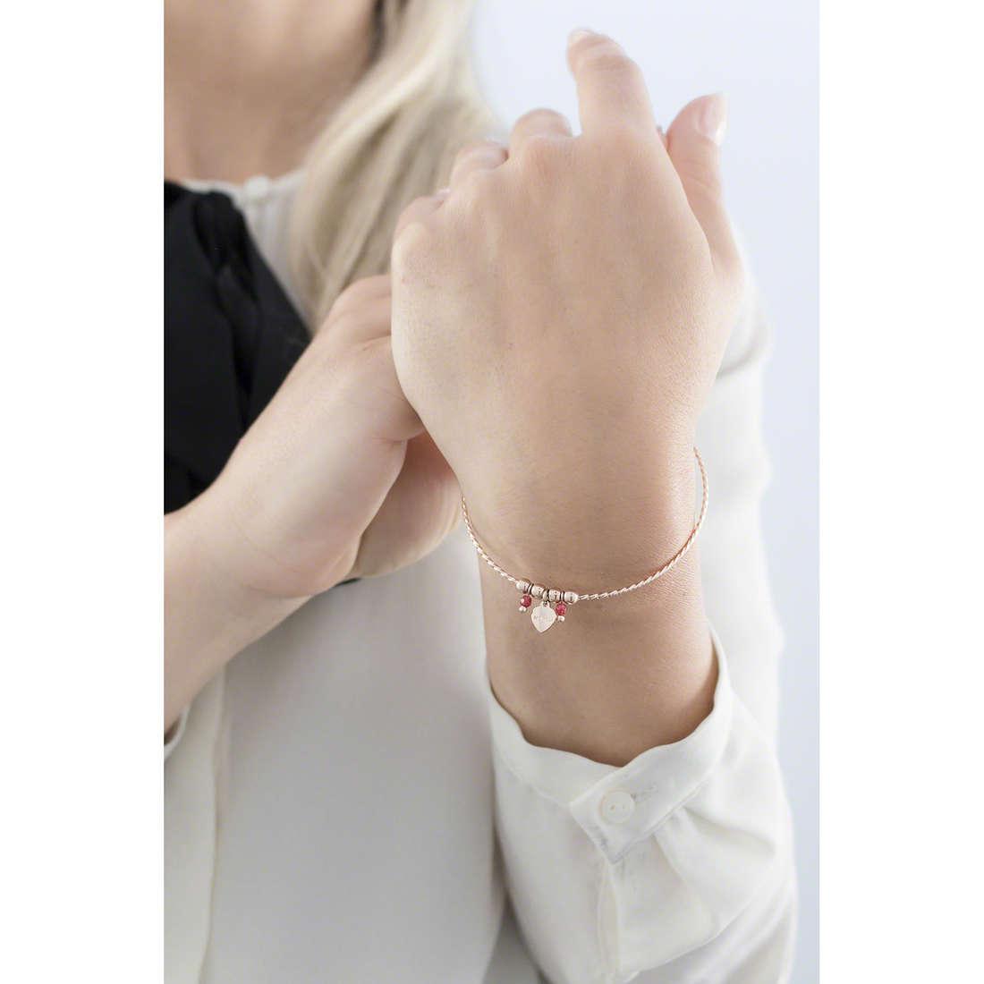 Marlù bracelets Clover woman 18BR041R indosso