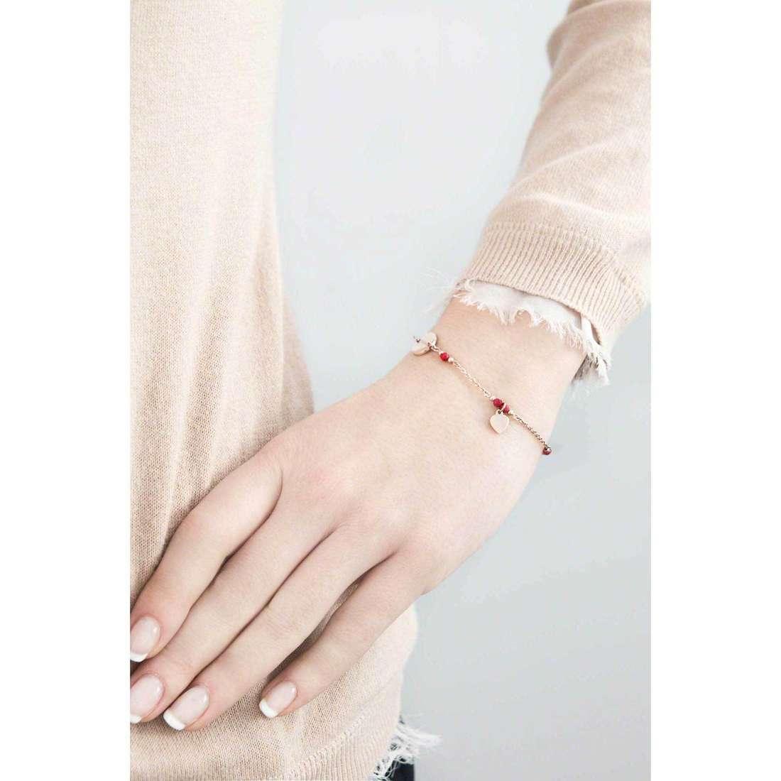 Marlù bracelets Clover woman 18BR043R indosso