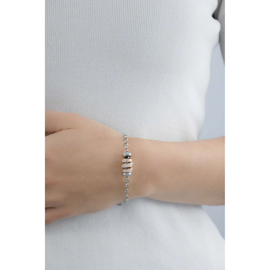 Morellato bracelets Drops woman SCZ368 indosso
