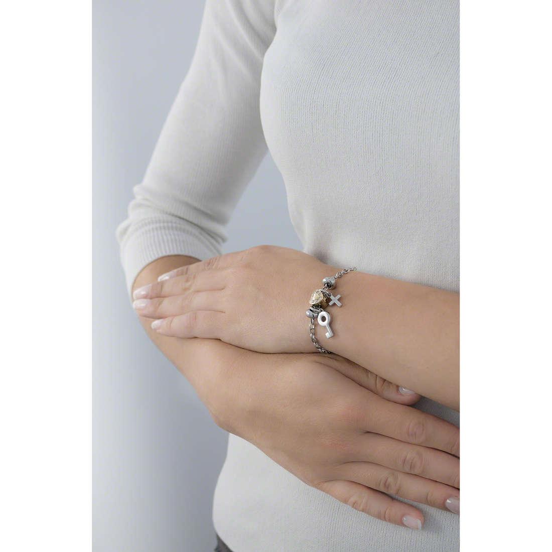 Morellato bracelets Drops woman SCZ717 indosso