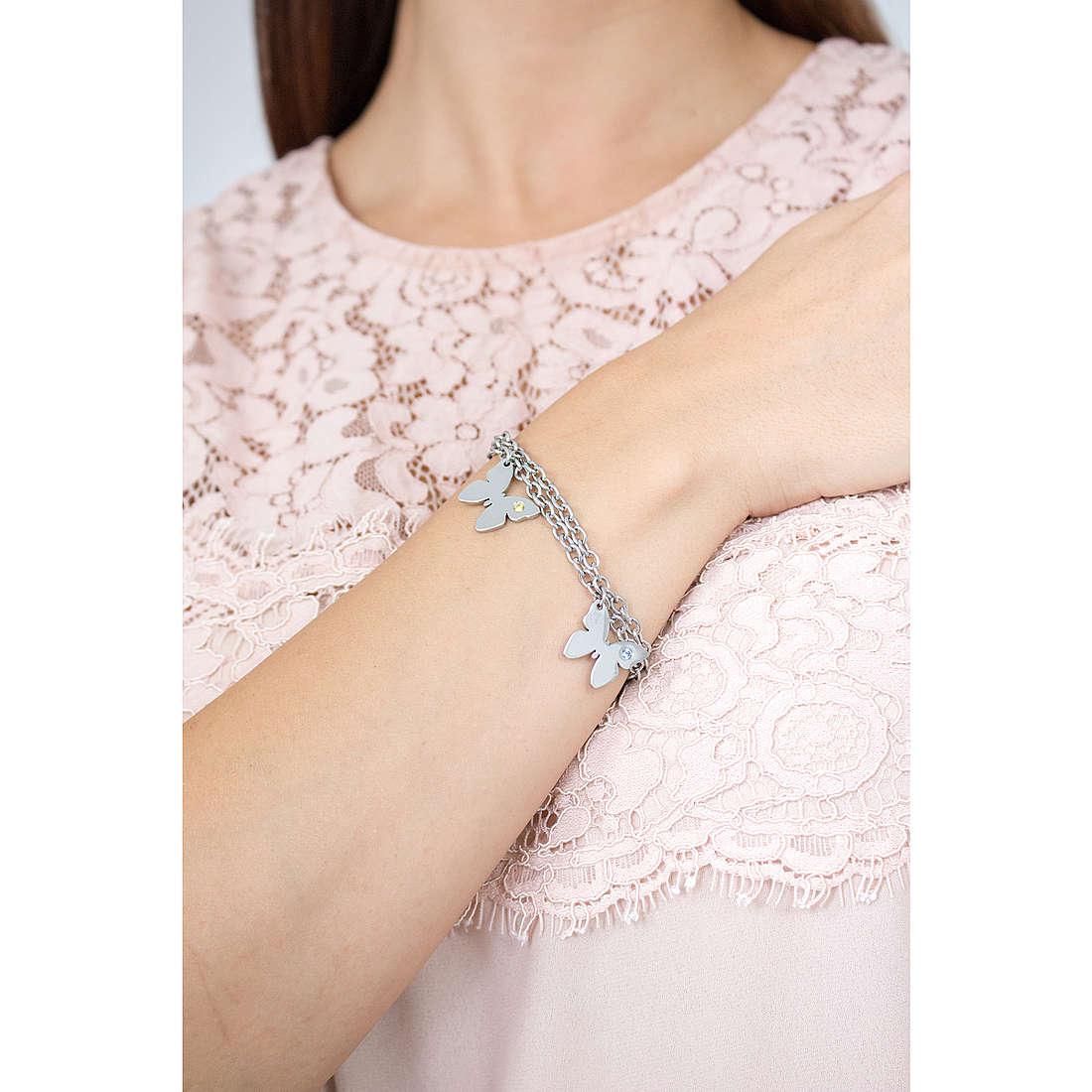 Nomination bracelets Butterfly woman 021316/016 indosso