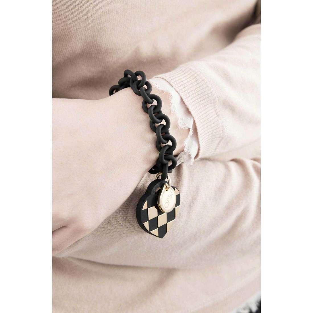 Ops Objects bracelets Damier woman OPSBR-140 indosso