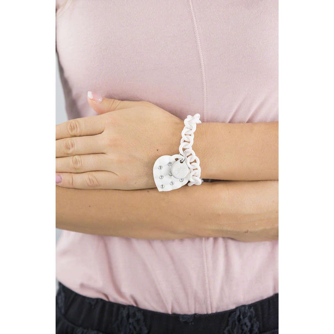 Ops Objects bracelets Matelassè Crystal woman OPSBR-230 indosso