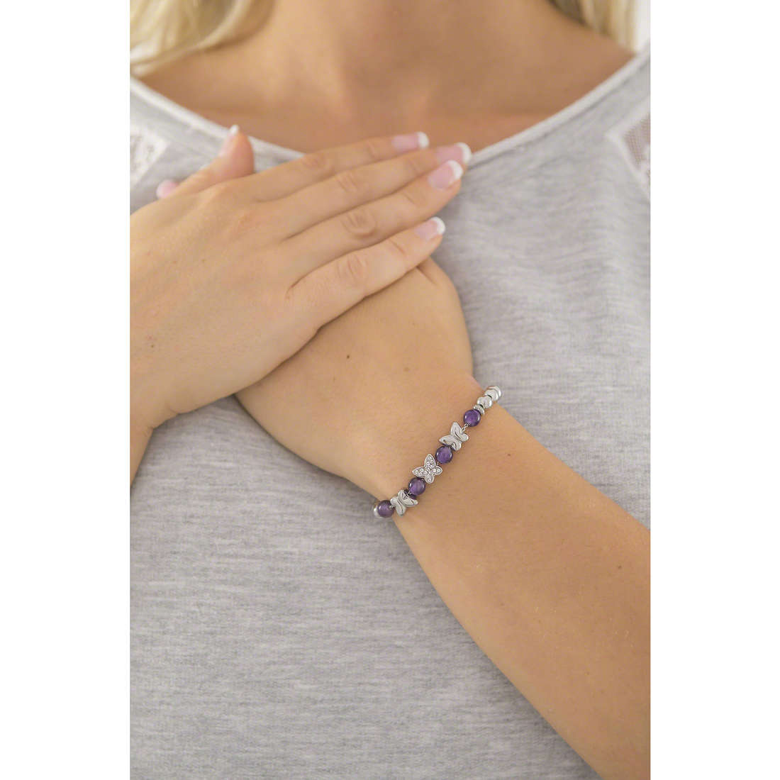 Sagapò bracelets Bonjour woman SAGAPOSBJ15 indosso