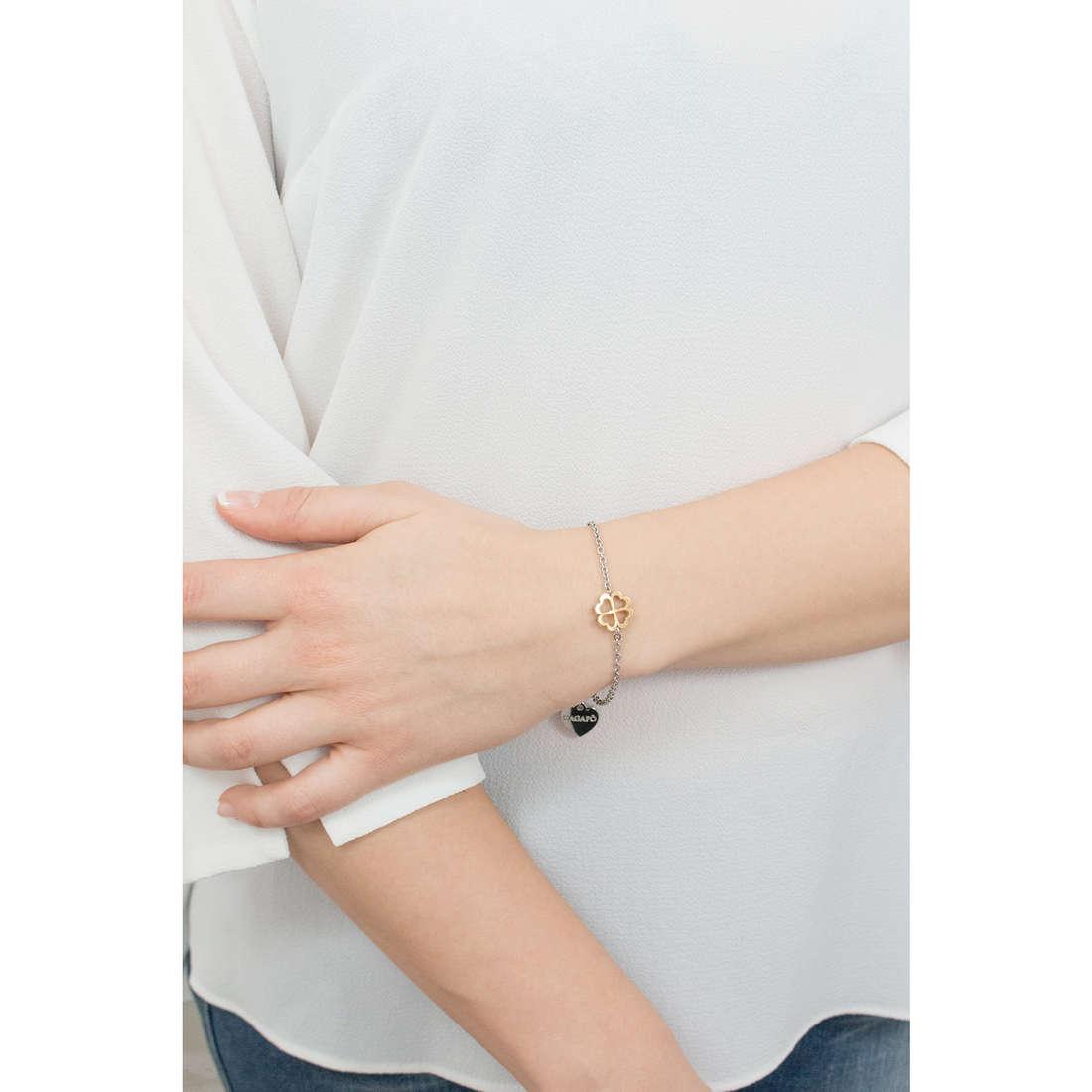 Sagapò bracelets BUTTERFLY woman SBF17 indosso