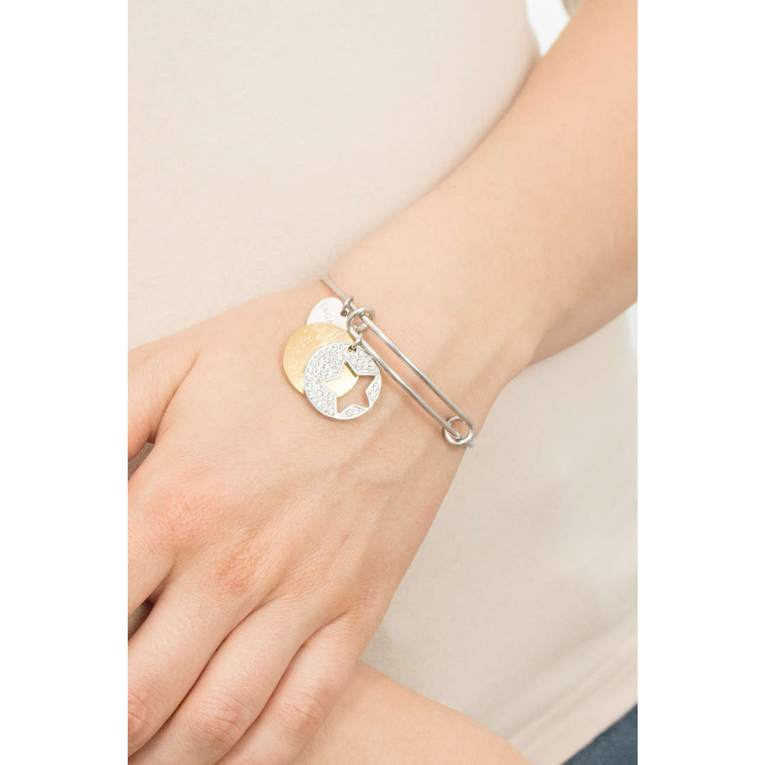 Sagapò bracelets Fortune woman SFO13 indosso