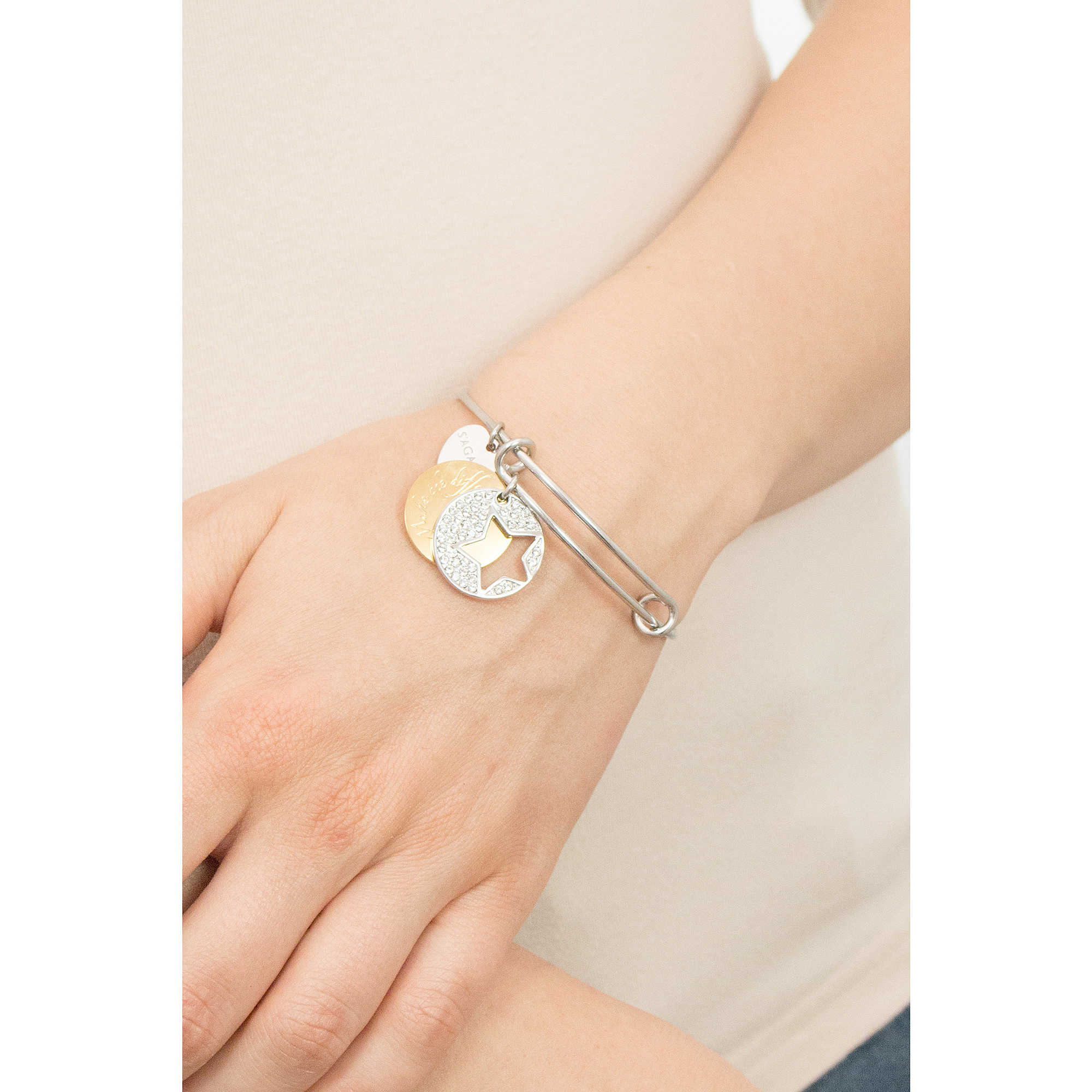 diamond fortune gold bracelet with heart products