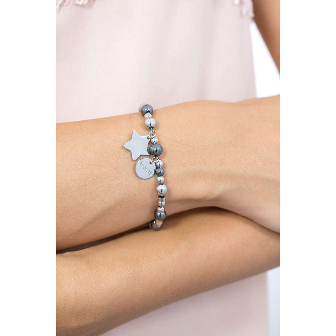 Sagapò bracelets HAPPY woman SHAF02 indosso
