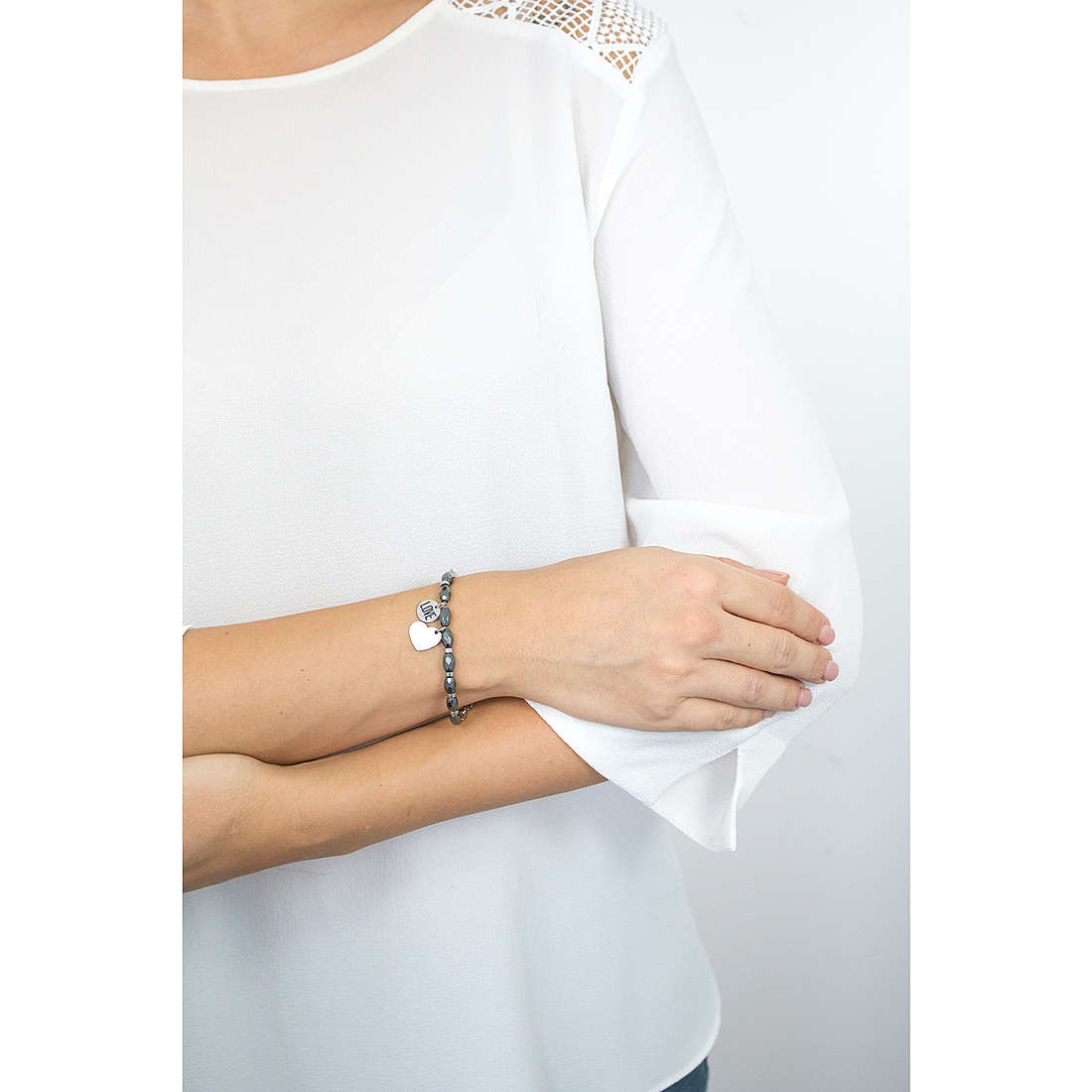 Sagapò bracelets HAPPY woman SHAF06 indosso