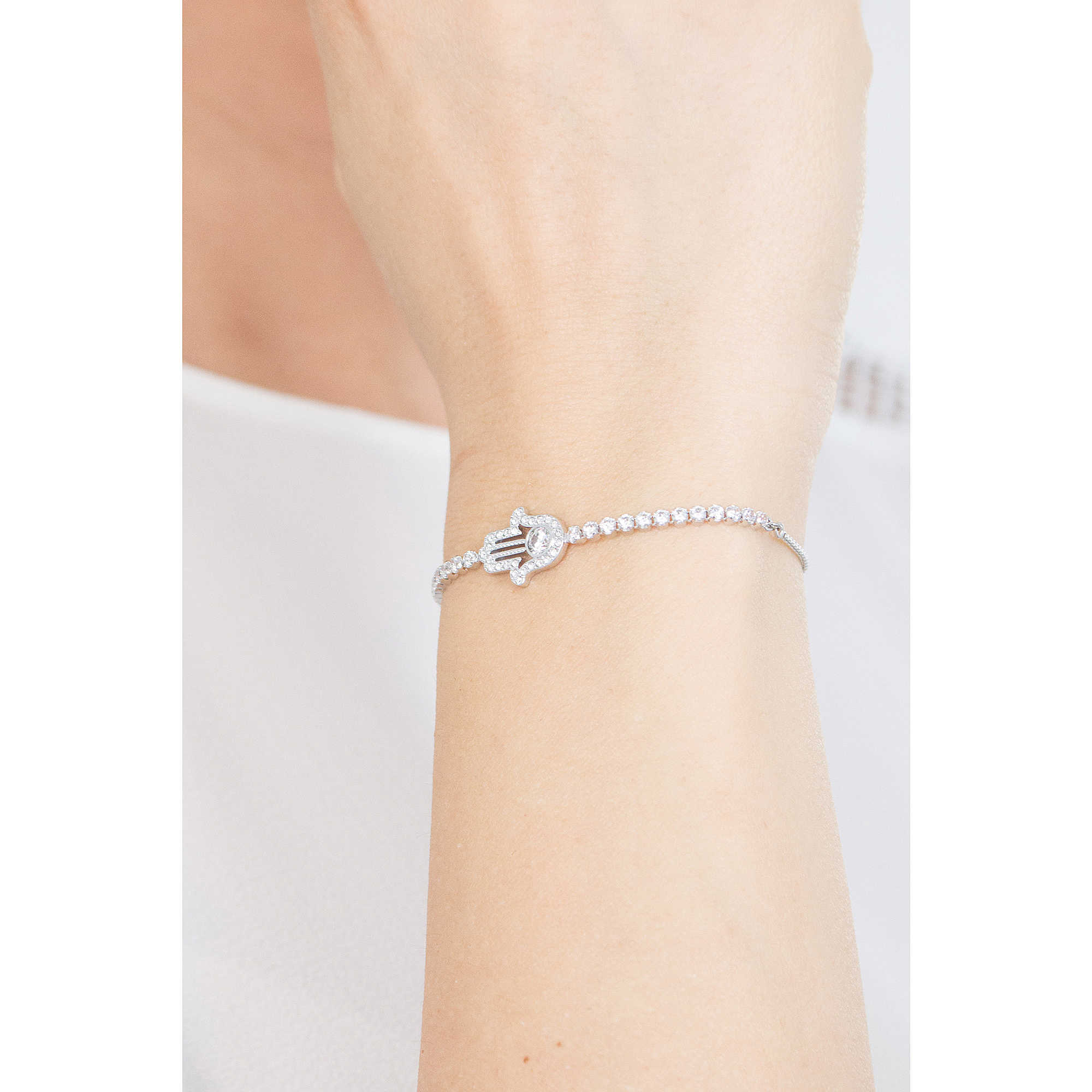 Swarovski Bracelets Hamsa Hand Woman 5397699 Photo Wearing Zoom