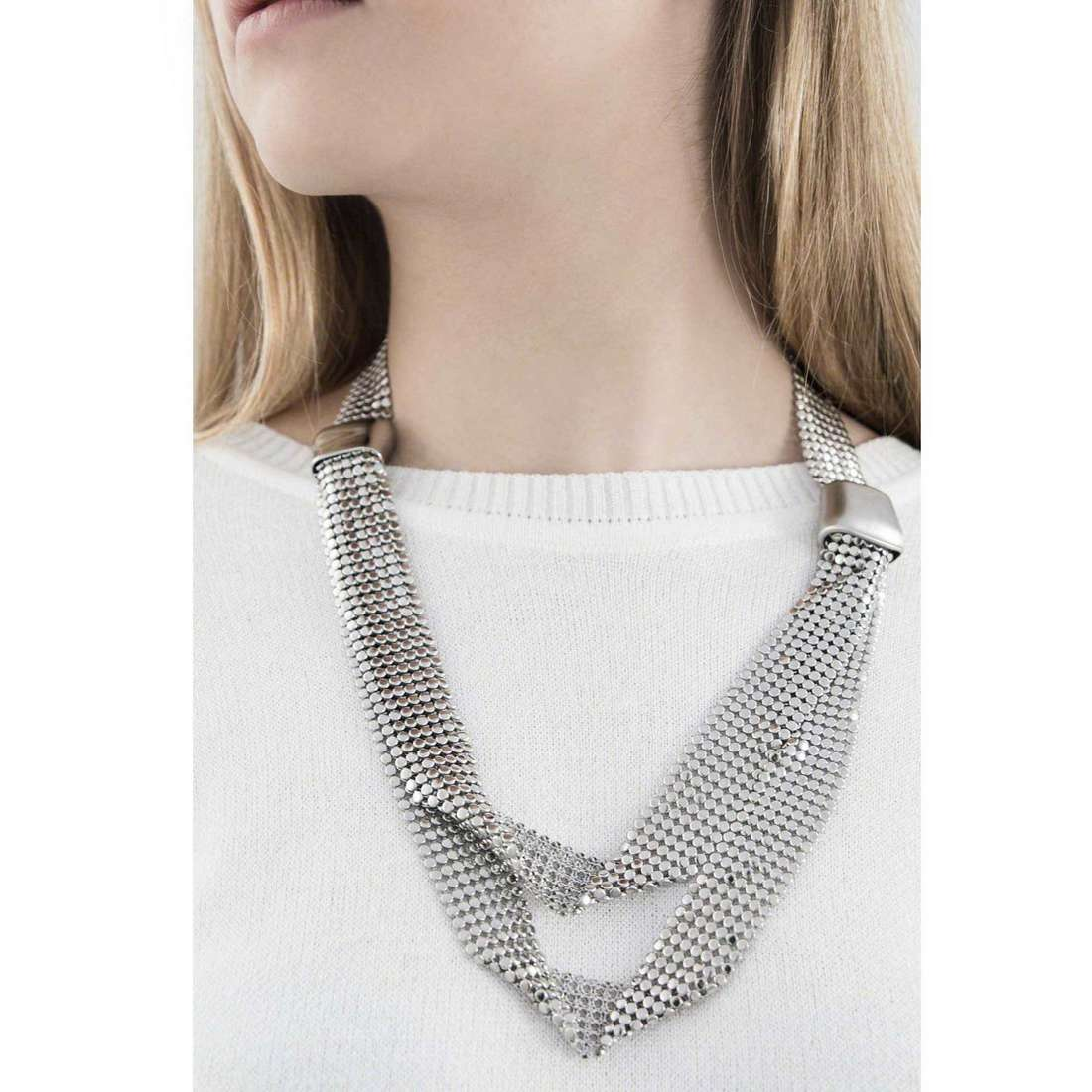 Breil collane Steel Silk donna TJ1268 indosso