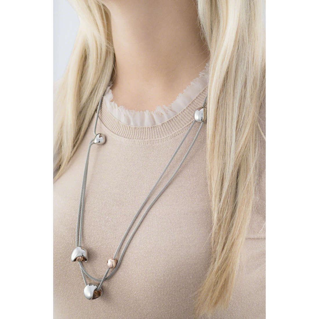 Breil collane Waterfall donna TJ1820 indosso