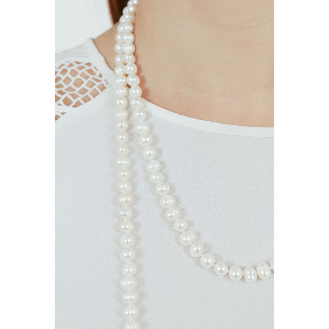 Comete collane Fantasie di Perle donna FWQ 247 indosso