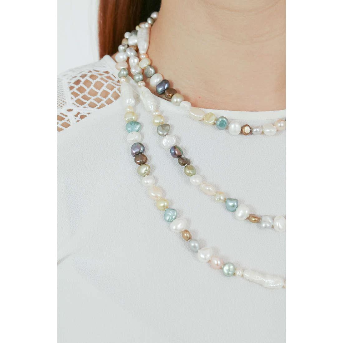 Comete collane Fantasie di perle donna FWQ 249 indosso