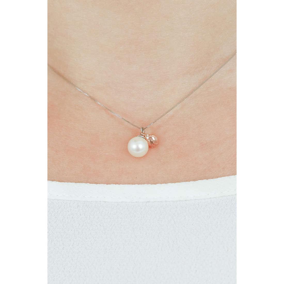 Comete collane Fantasie di Perle donna GLP 474 indosso