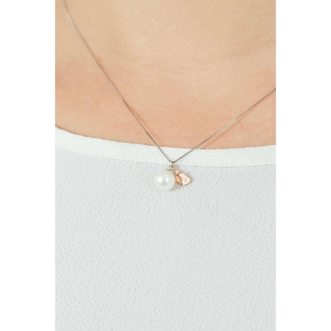 Comete collane Fantasie di Perle donna GLP 475 indosso