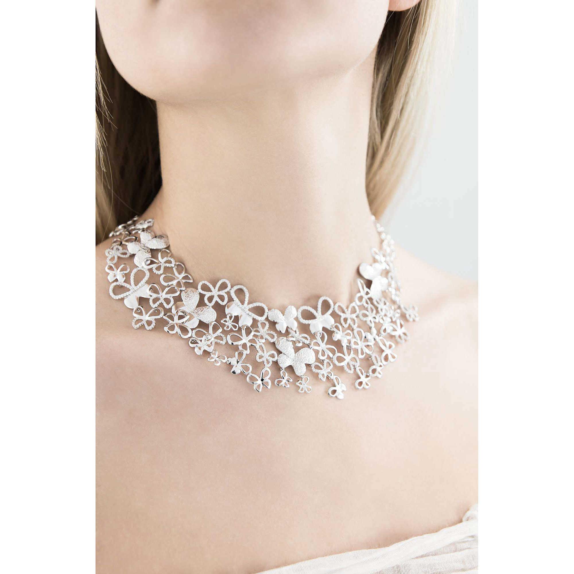 Jewelry 2018 >> collana donna gioielli Comete Farfalle GLA 128 collane Comete