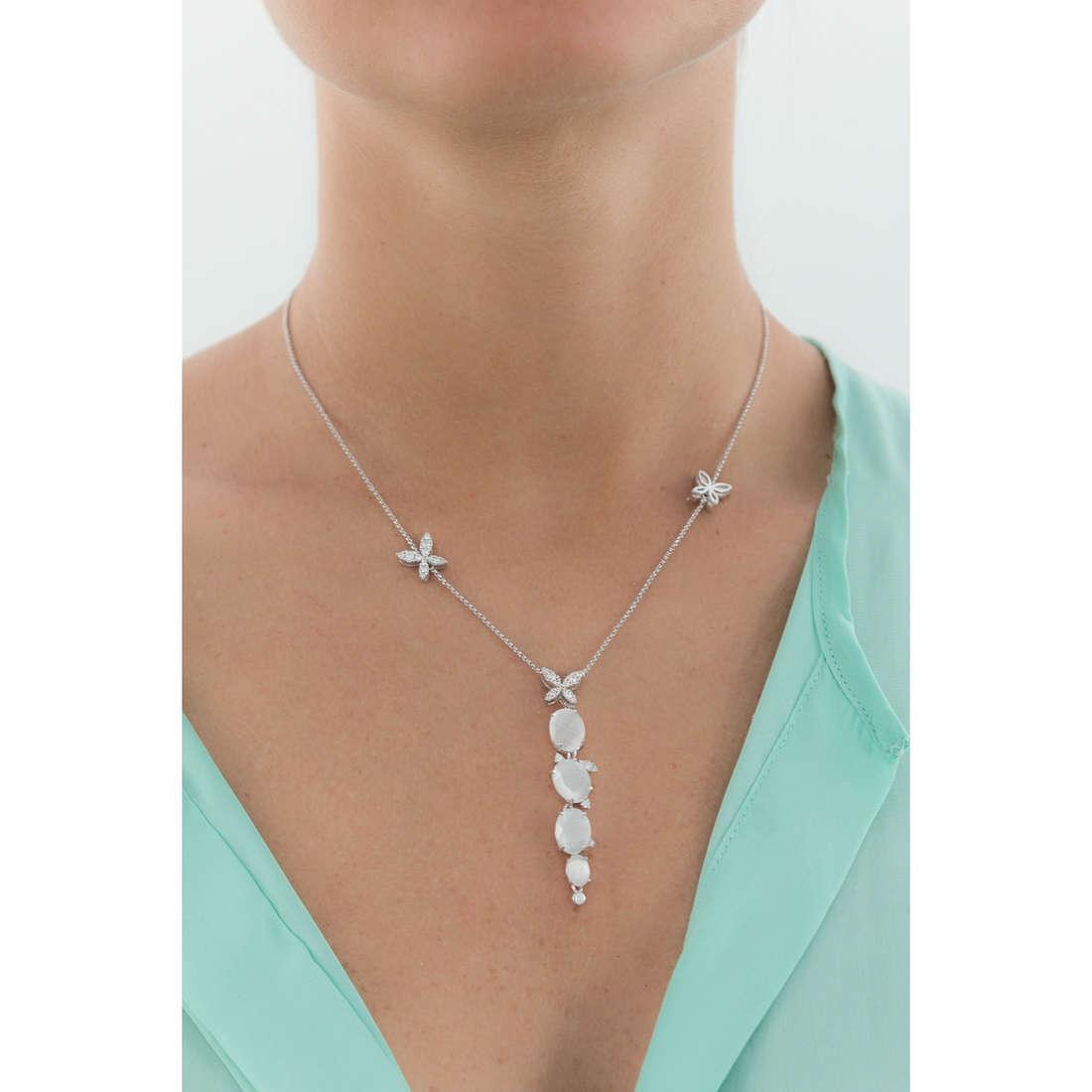 Comete collane Farfalle donna GLA 142 indosso