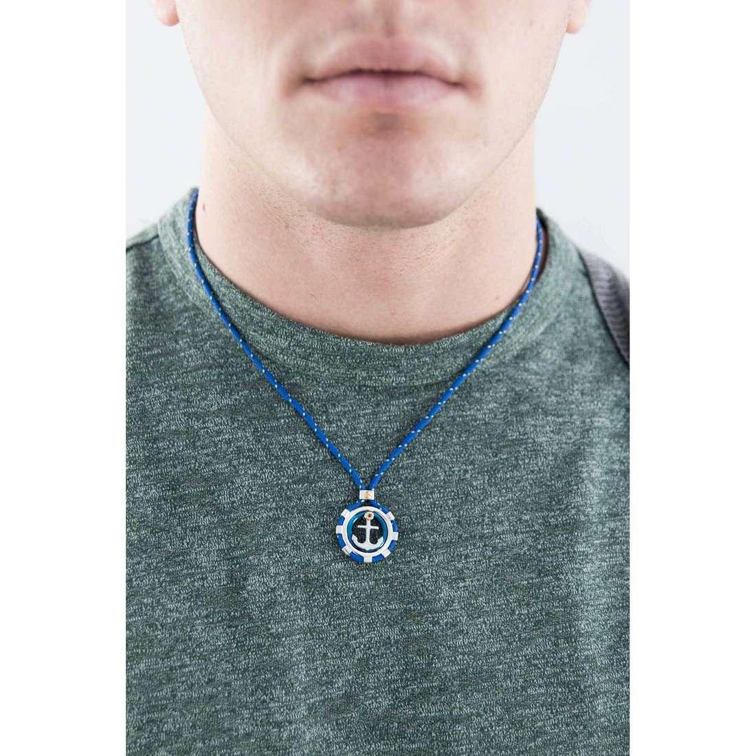 Comete collane Blu di Genova uomo UGL 561 indosso