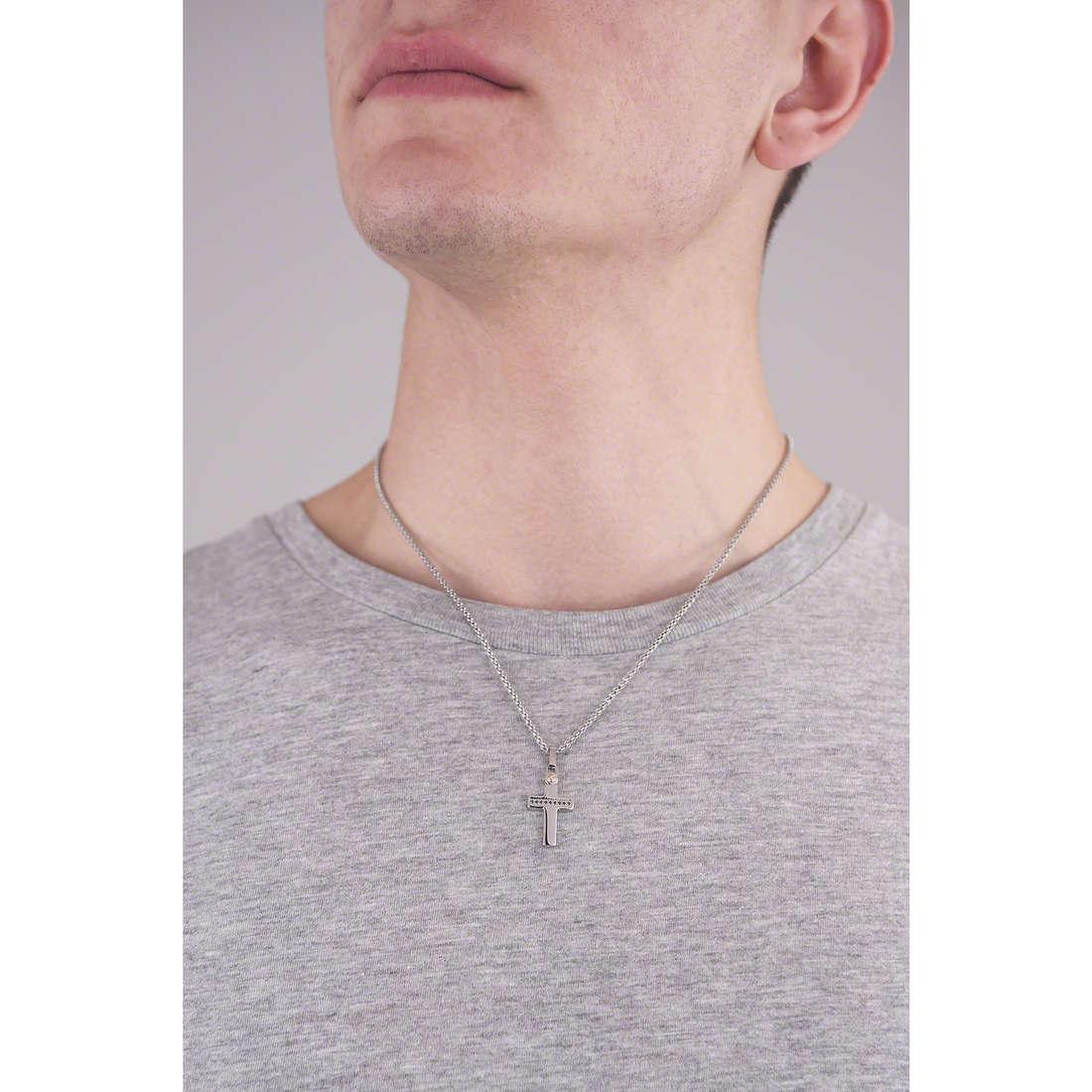 Comete collane Zip uomo UGL 521 indosso