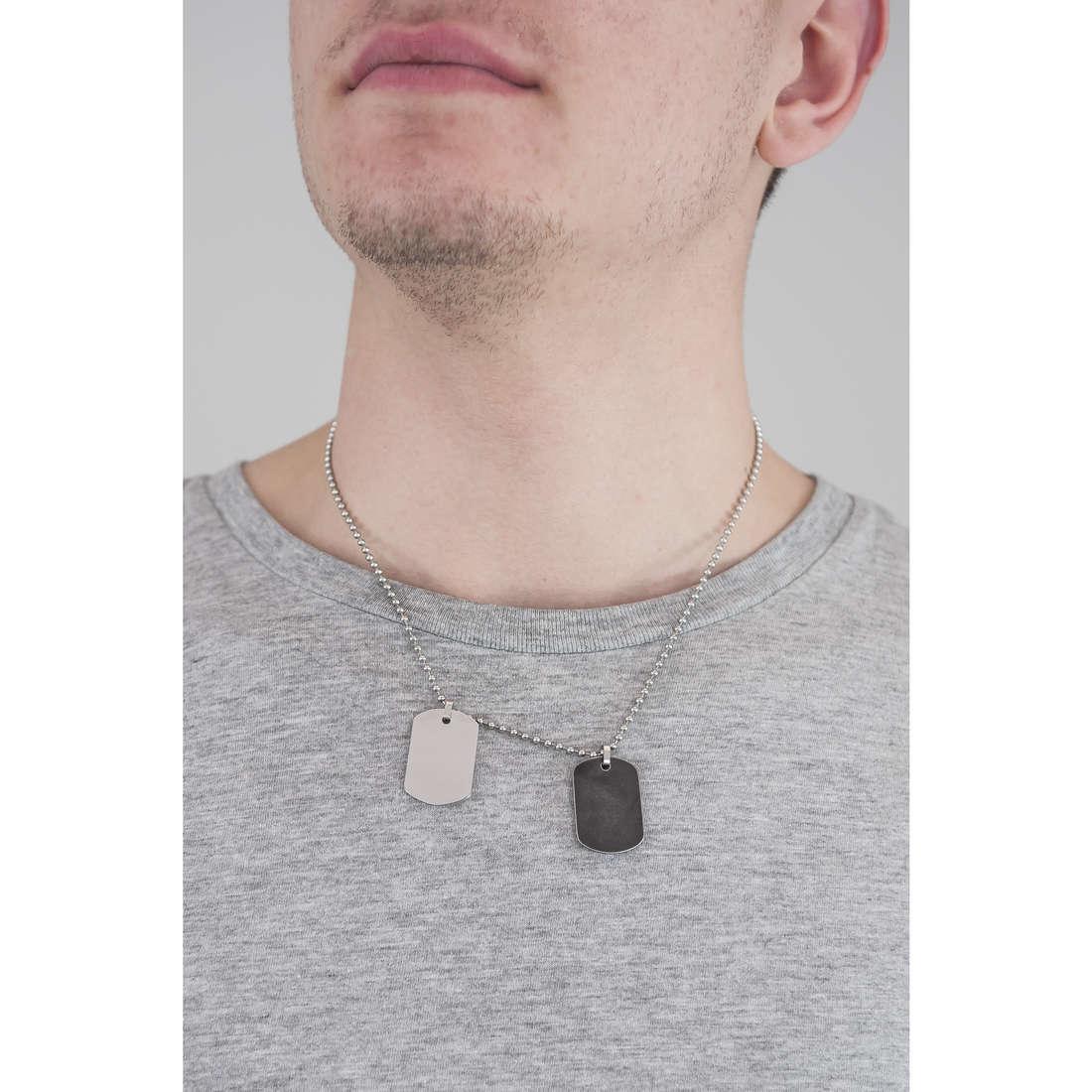 Morellato collane Cross uomo SAHU01 indosso