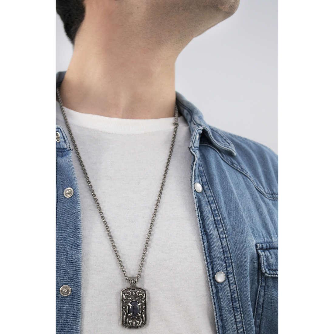 Police collane Spectre uomo S14AFX01P indosso