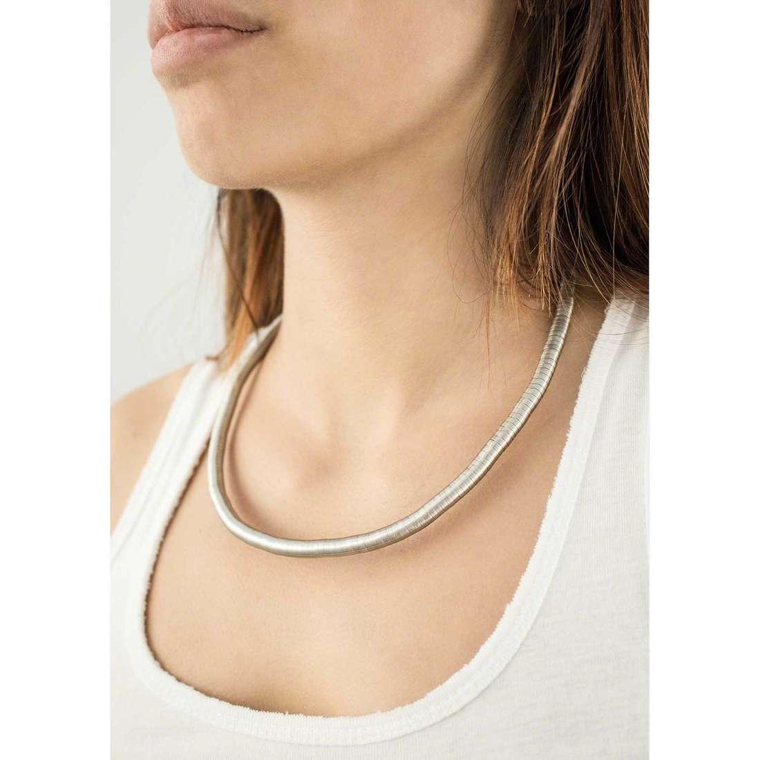 Breil colliers Snake femme TJ1283 indosso