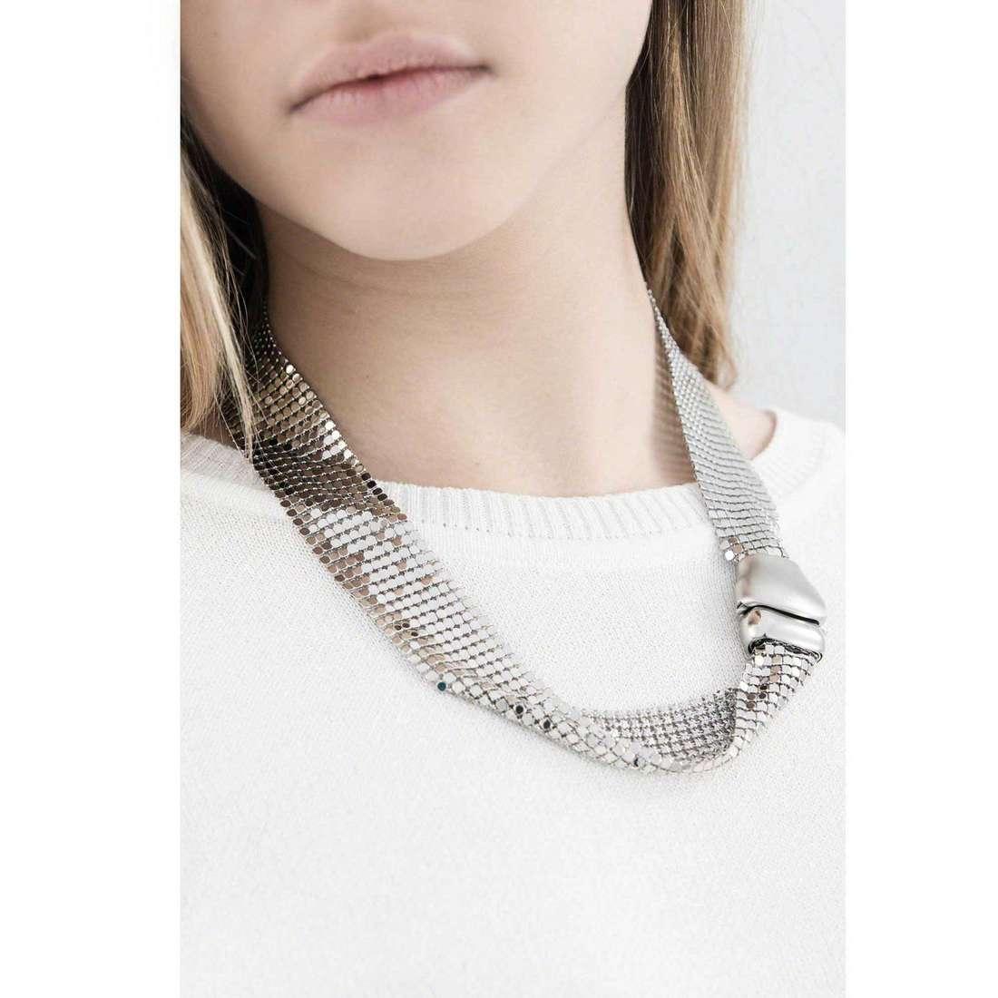 Breil colliers Steel Silk femme TJ1225 indosso