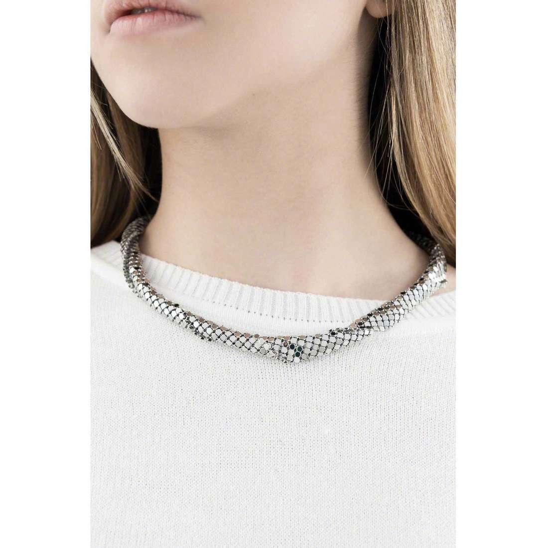 Breil colliers Steel Silk femme TJ1226 indosso