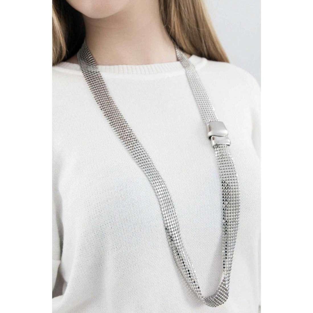 Breil colliers Steel Silk femme TJ1268 indosso