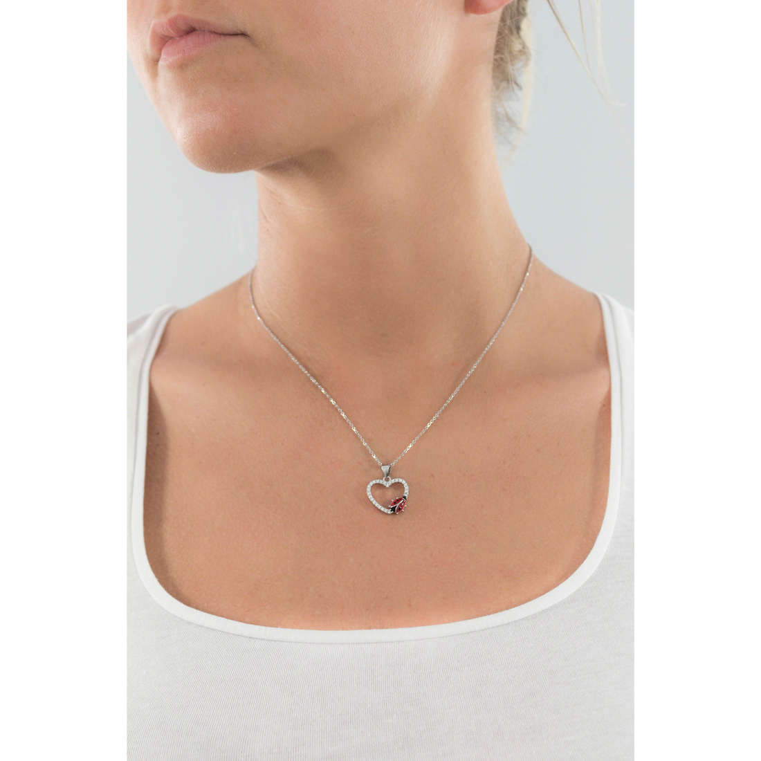 GioiaPura colliers femme GPSRBS0389F-R-43 indosso