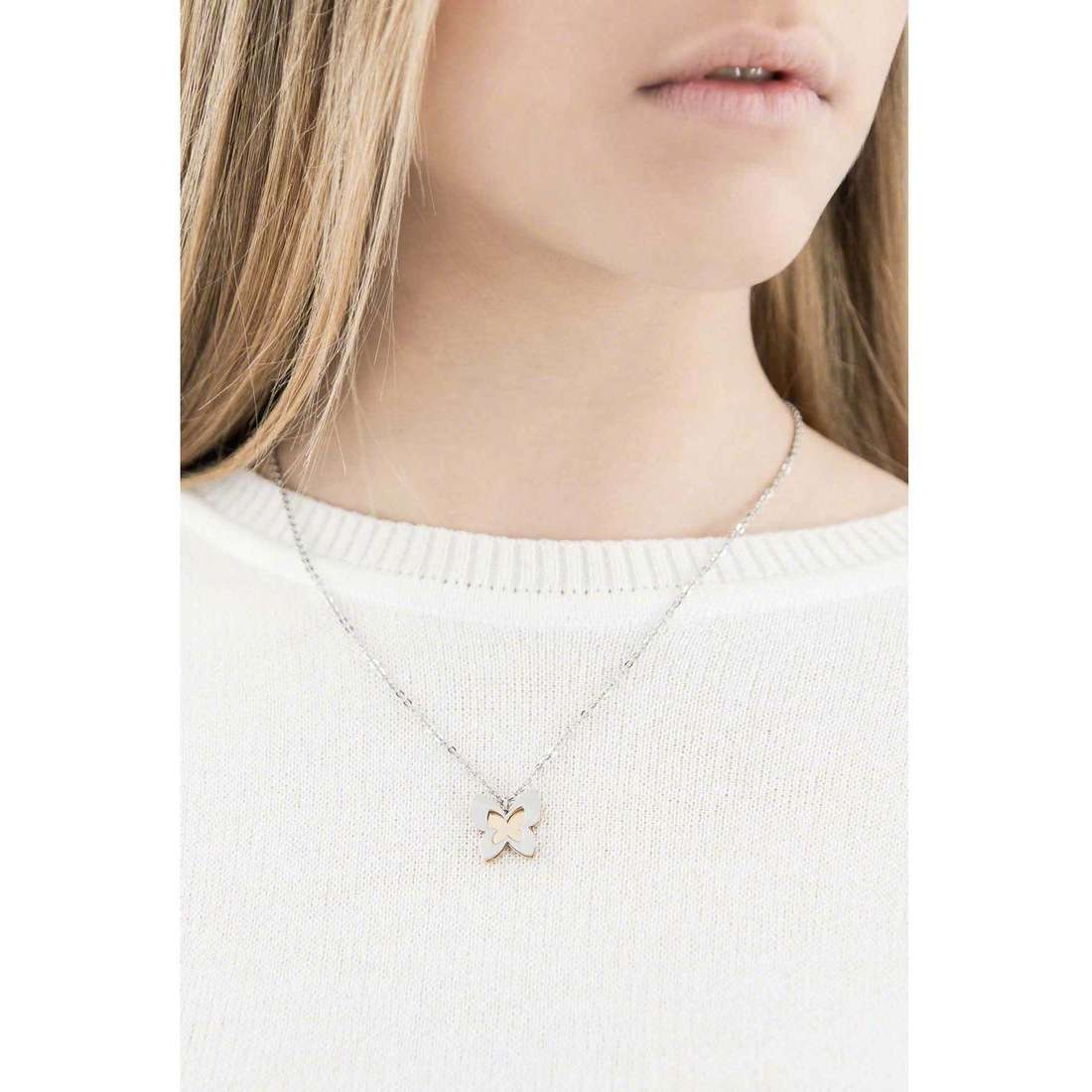 Sagapò colliers BUTTERFLY femme SBF02 indosso