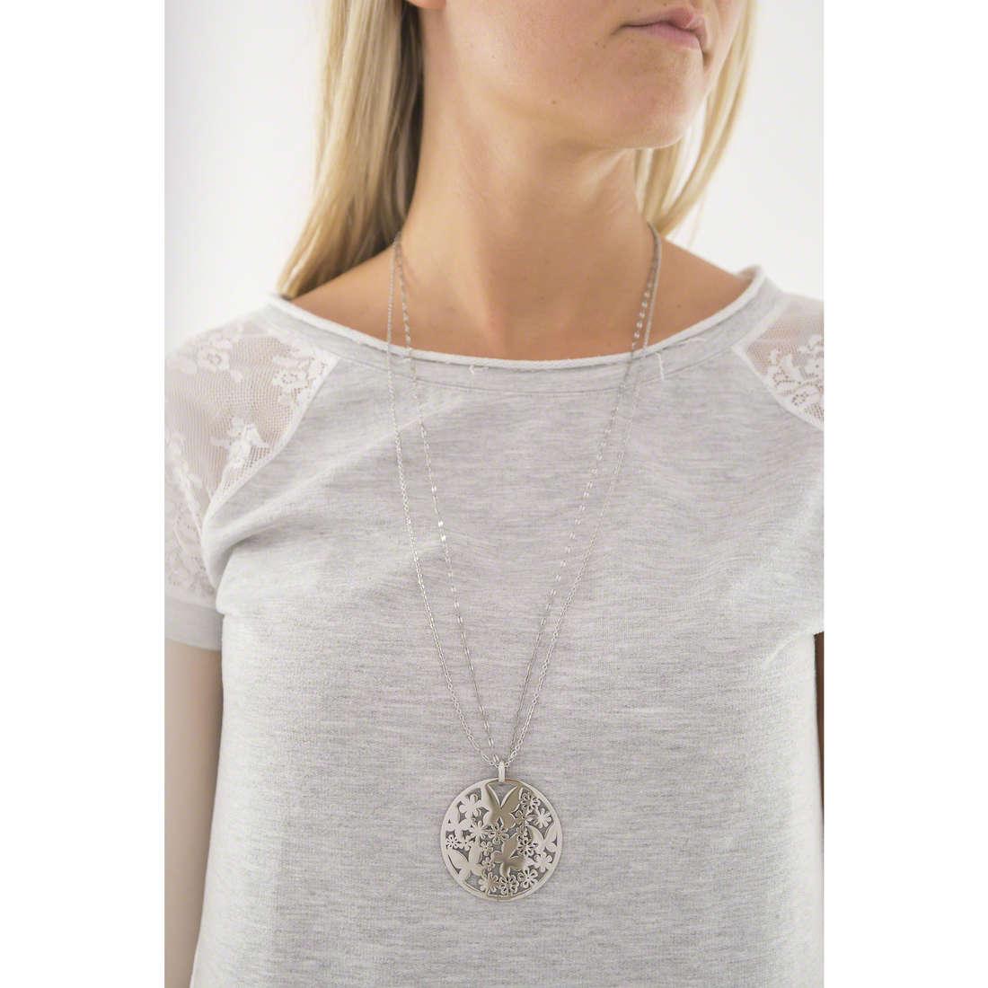 Sagapò colliers Flower femme SFL02 indosso