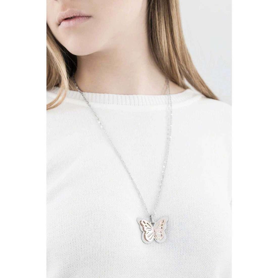Sagapò colliers Mariposa femme SMP06 indosso