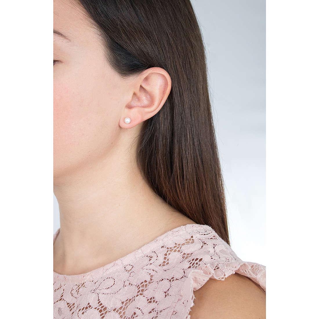 Comete earrings woman ORP 148 G photo wearing