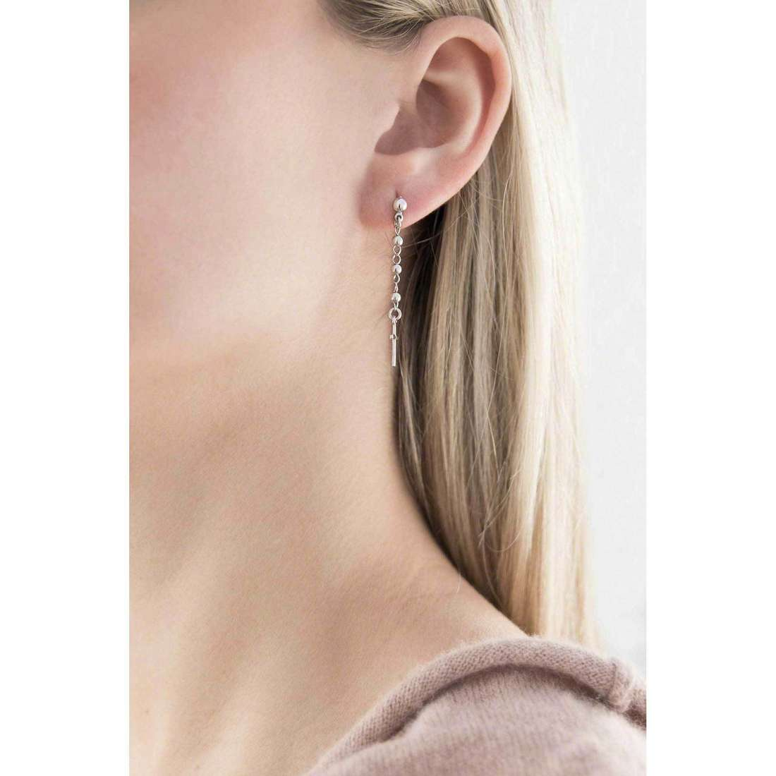 Amen earrings Rosario woman OROB1 indosso