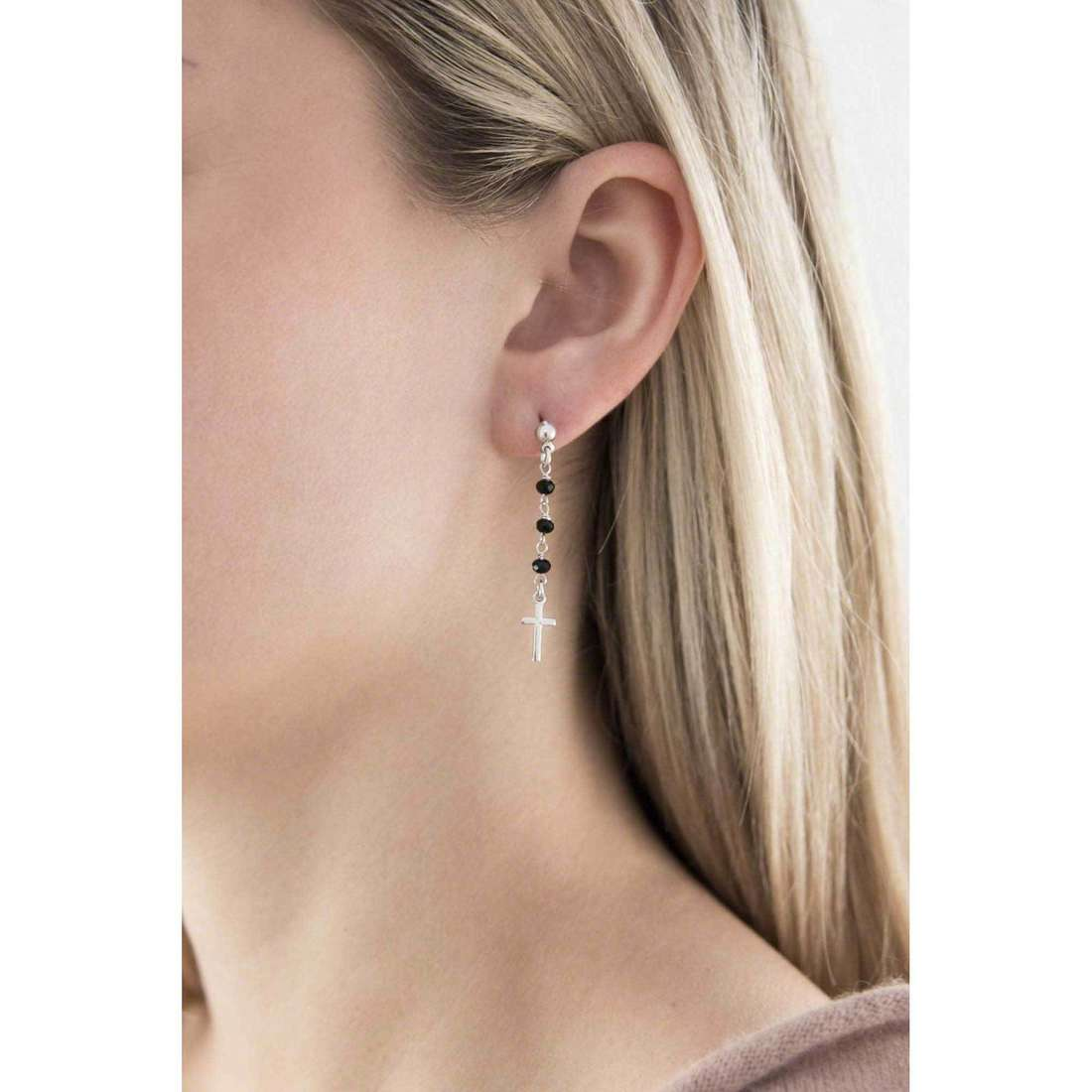 Amen earrings Rosario woman OROBN1 indosso