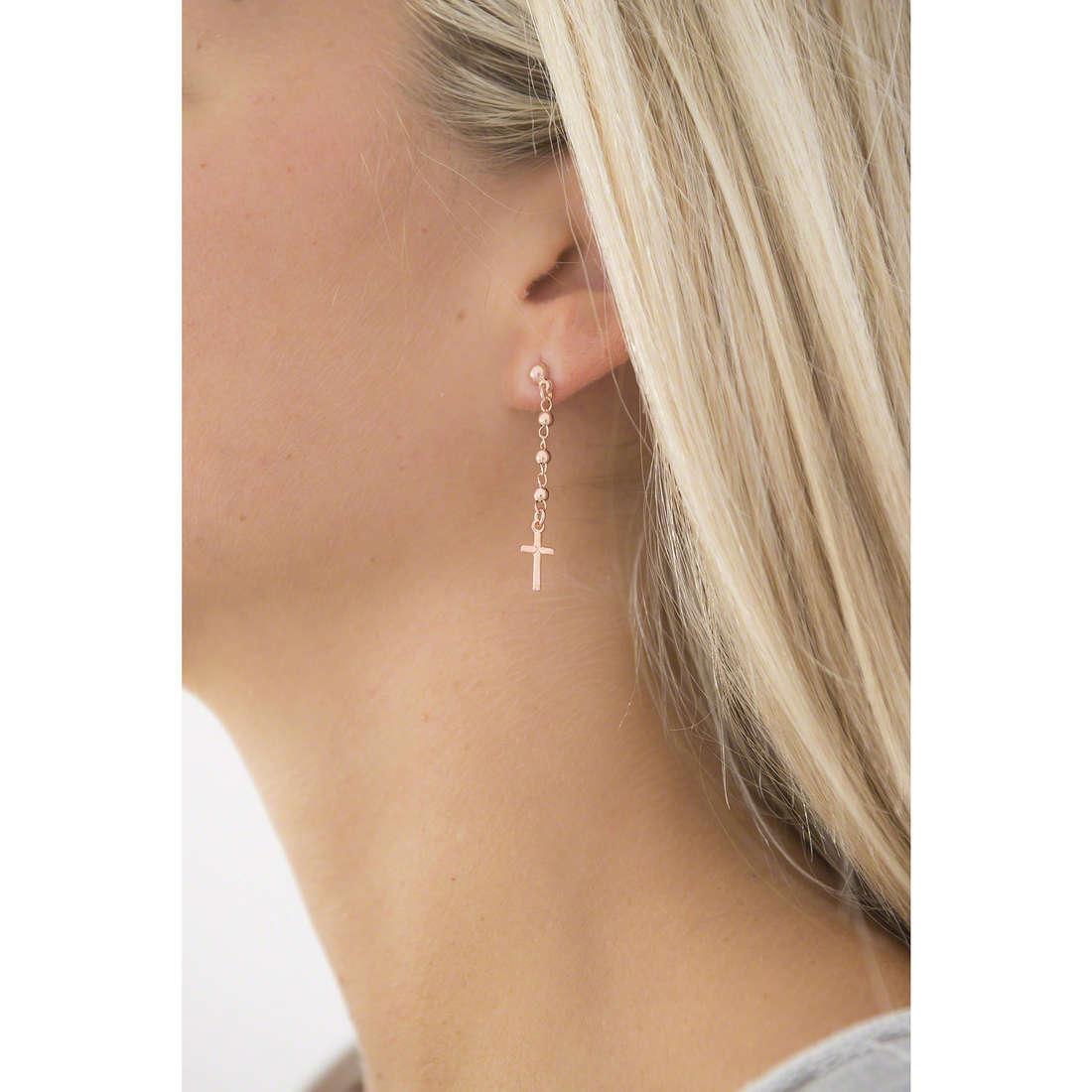 Amen earrings Rosario woman OROR1 indosso