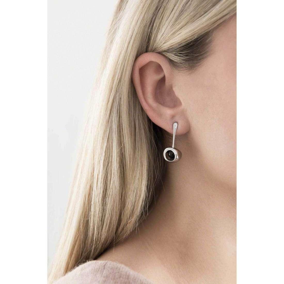 Breil earrings Red woman TJ1860 indosso